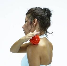 Míč masážní ježek pr. 6 cm - oranžový  - 4