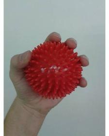 Míč masážní ježek pr. 9 cm - červený  - 4