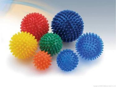 Míč masážní ježek pr. 10 cm - modrý  - 5